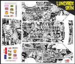 Black & White Stickerbomb themed vinyl SKIN Kit & Stickers Fits Tamiya Lunchbox R/C Monster Truck